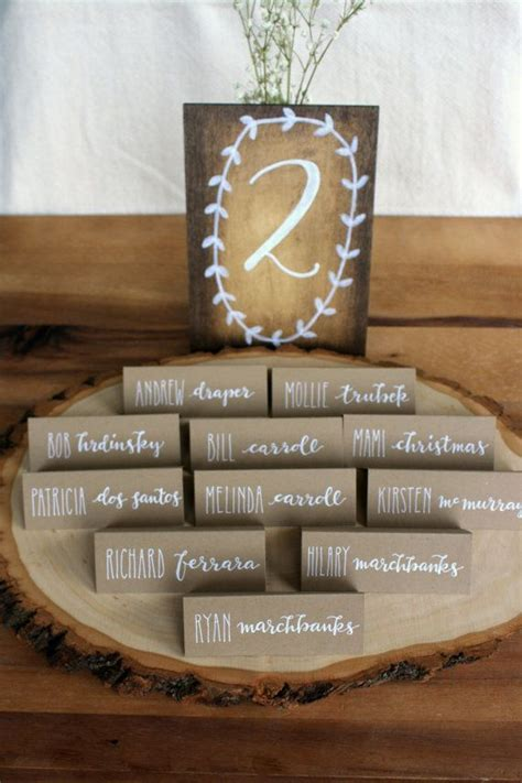 17 Best ideas about Rustic Place Cards on Pinterest