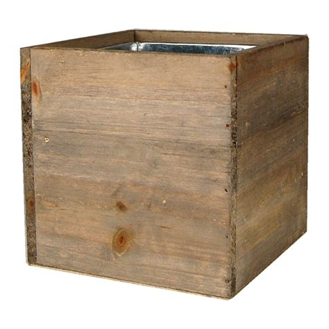 Wooden Box Vases by Wood Cube Box Planters With Zinc Liner Zwcb060606 Wood Box Planters Modern Vase Gift