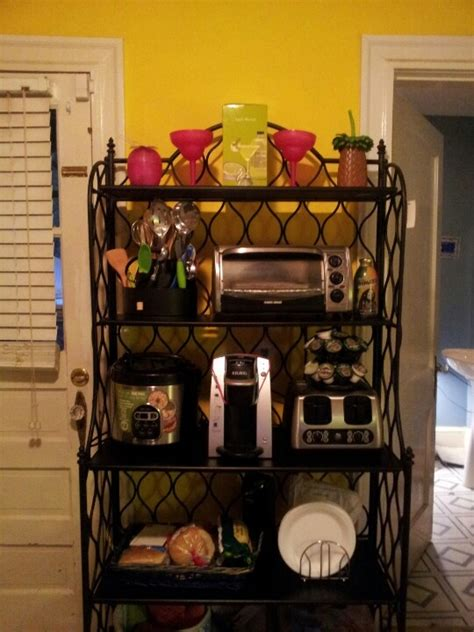 Small Bakers Rack by Hold Small Appliances Bakers Rack Organizing