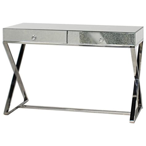 Modern Vanity Desk Modern Mirrored And Chrome Desk Or Vanity At 1stdibs