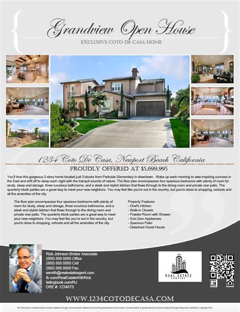 real estate flyer template gallery turnkey flyers