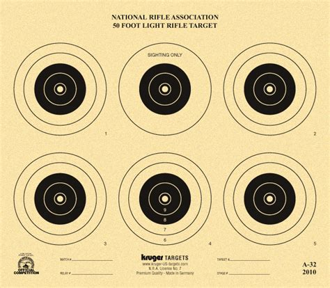 printable competition targets 50 foot light rifle target nra a 32 kruger premium