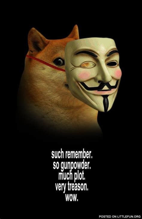 Guy Fawkes Mask Meme - littlefun doge guy fawkes