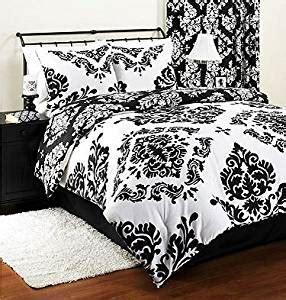 black and white pattern bed sheets amazon com classic noir black white damask reversible 3