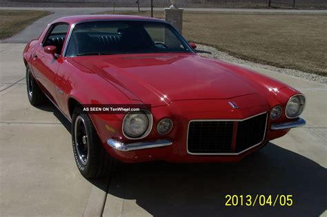 1972 camaro rally sport 1972 camaro documented numbers matching rally sport