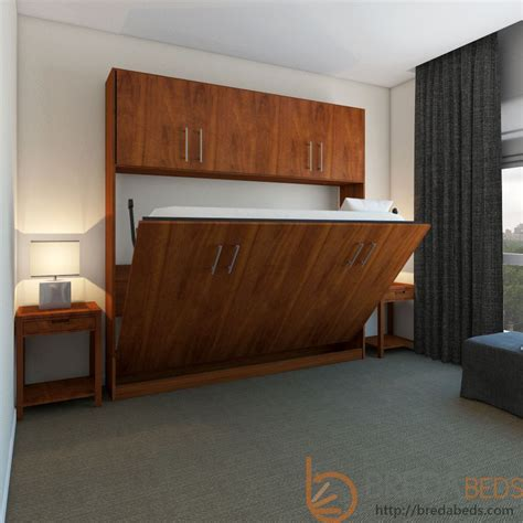 Horizontal Urban Murphy Bed with Top Hutch   Horizontal