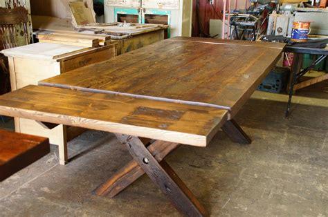 table bois cuisine table de cuisine 100 vieux bois n 1003 le g 233 ant antique
