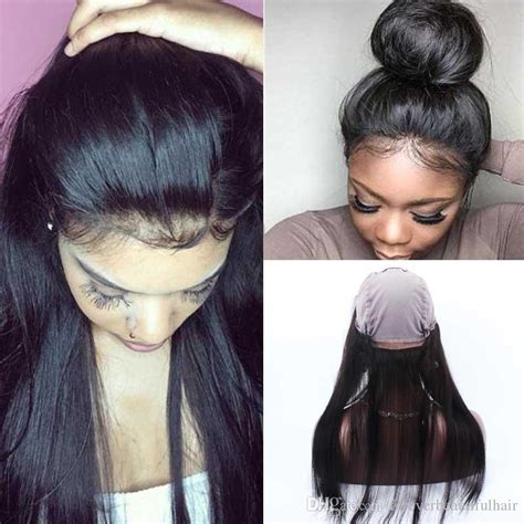 short hairstyle with front lacr closer 360 lace frontal human hair half wigs with baby hair human