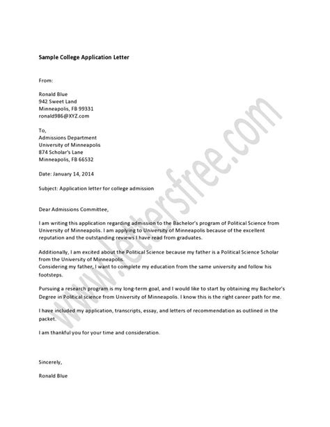 application letter for a college place writing college application letter is a media of setting