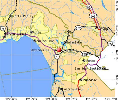 map of watsonville california watsonville california ca 95076 profile population