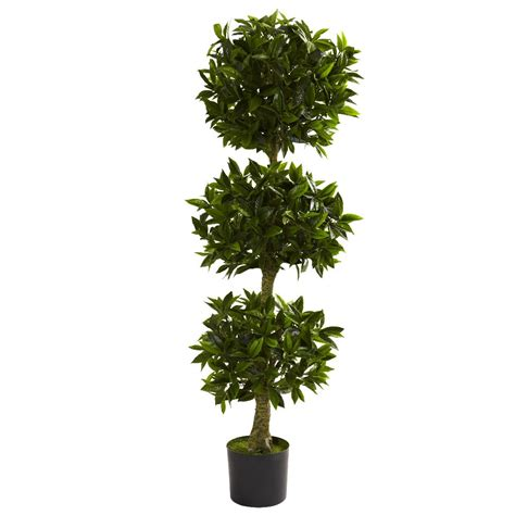 topiary plants 5 silk bay leaf topiary uv resistant indoor