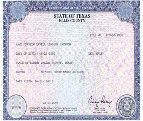 Birth Records Dallas Tx Birth Certificate Form Vocaalensembleconfianza Nl
