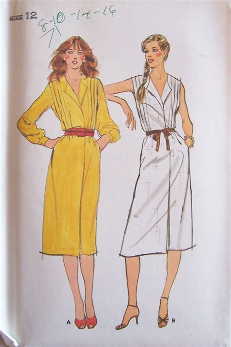 dress pattern ruched bodice vintage butterick 6962 pleated bodice sleeveless wrap