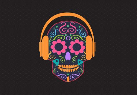 skull color skull vector with beats color graphics creative market