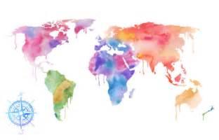 World Map Watercolor by World Map Watercolor