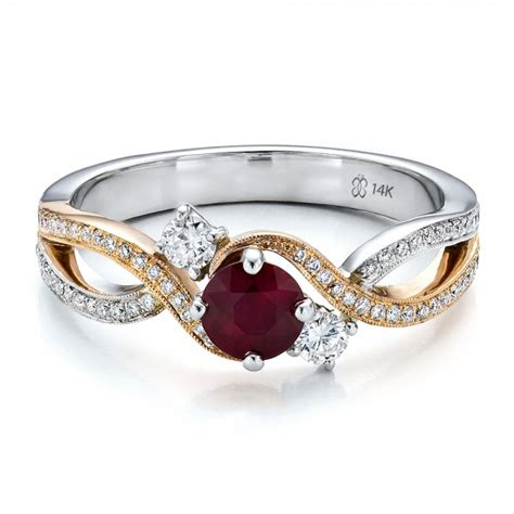 custom ruby and engagement ring 100092 bellevue