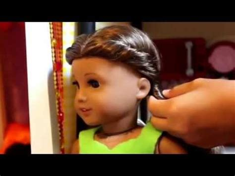 american girl hairstyles youtube 5 hairstyles for american girl dolls youtube