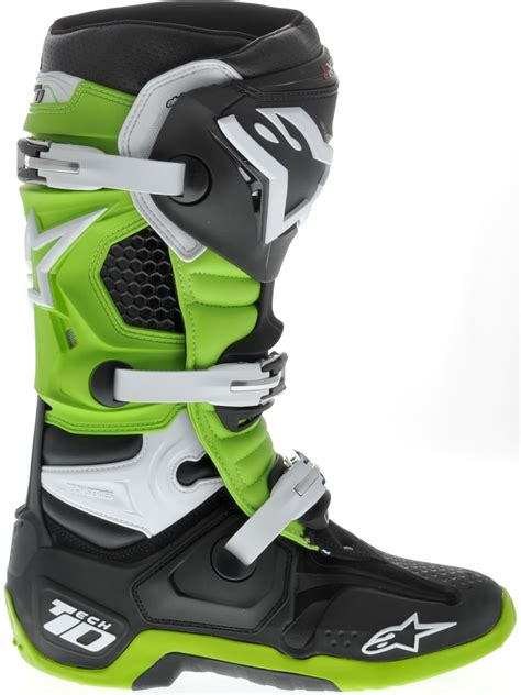 green dirt bike boots alpinestars new 2017 mx tech 10 dirt bike black