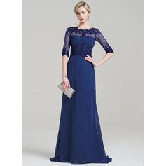 Id 396 Flower Lace Dress a line princess scoop neck sweep chiffon of