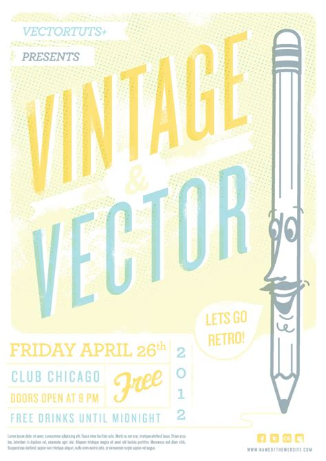 tutorial design vintage vintage vector design workflow creating a retro flyer design