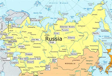 russian map states of russia map