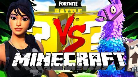 fortnite like minecraft minecraft fortnite lucky block challenge battle royale