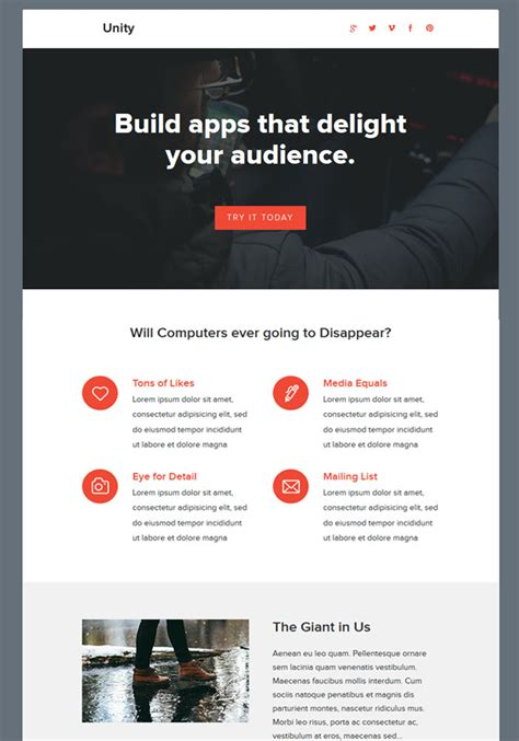 unity responsive layout 15 feature rich premium email newsletter templates