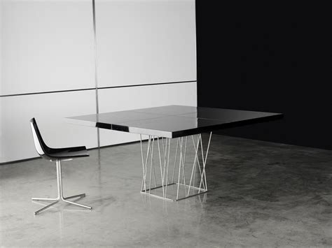 modern square dining tables square high gloss lacquer dining table on stainless steel