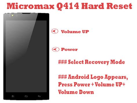 micromax pattern unlock key micromax q414 pattern unlock hard reset repairmymobile in