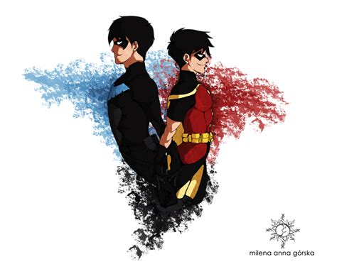 Justice For Milena nightwing and robin by milena gorska on deviantart