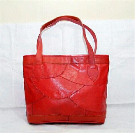 Tas Tutup Gasper Kulit Sapi Merah Tas Kulit Wanita Handbag Vintage Shocking Kode Produk