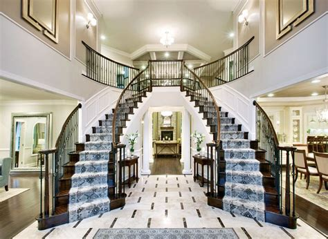 design your own home toll brothers the hton foyer with double spiral staircase at colts