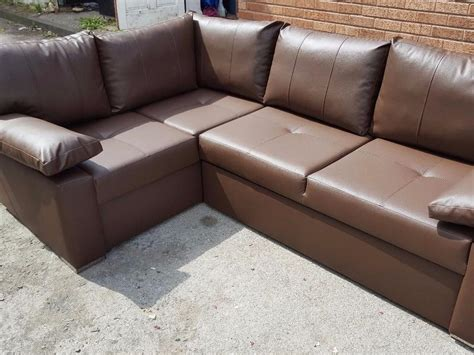 Brown Leather Corner Sofa Bed Brand New Brown Leather Corner Sofa Bed With Storage Can Deliver Outside Black Country Region