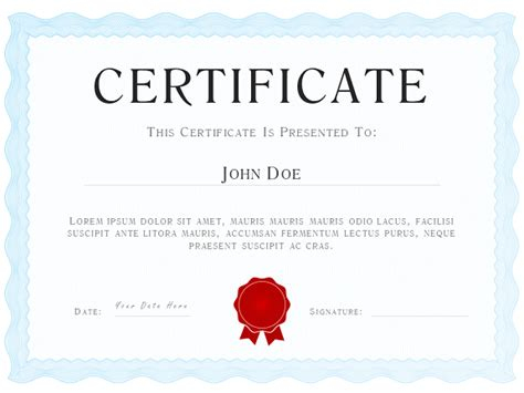 powerpoint certificate template free powerpoint certificate diploma template