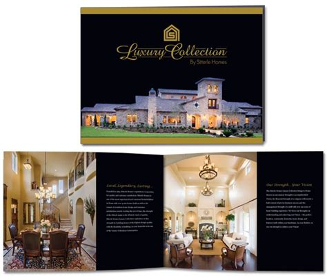 luxury collection  sitterle homes brochure design