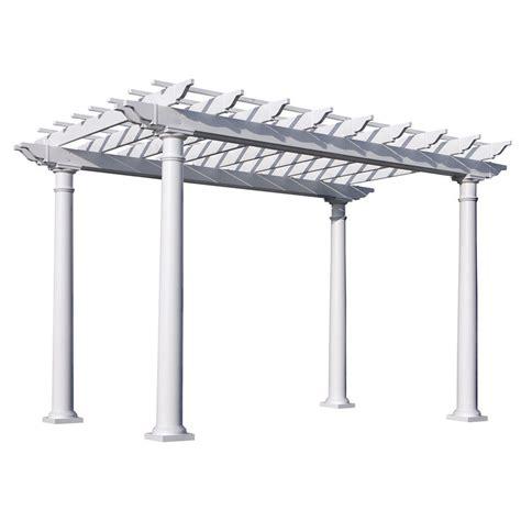 lowes pergola canopy shop suncast 8 5 ft x 12 ft x 8 ft white resin freestanding pergola at lowes