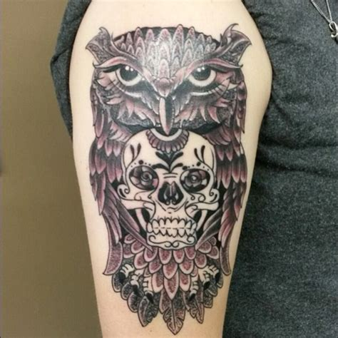 owl tattoos meanings 50 owl and skull ideas for your ink