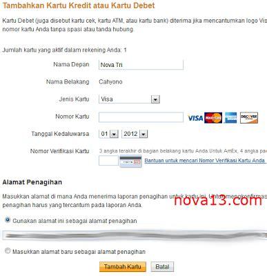 pembuatan kartu kredit mudah kartu kredit regular beranda cara verifikasi paypal dengan