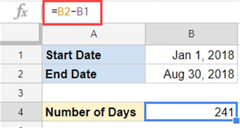 calculator number of days calculate the number of days between two dates in google