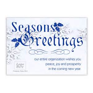 season greeting cards for business snowflake seasons greeting corporate card