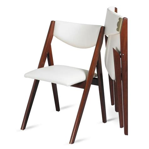 Upholstered White Chair Design Ideas Oooh Look At This Modern Take On A Folding Dining Chair A Frame Design Upholstered In