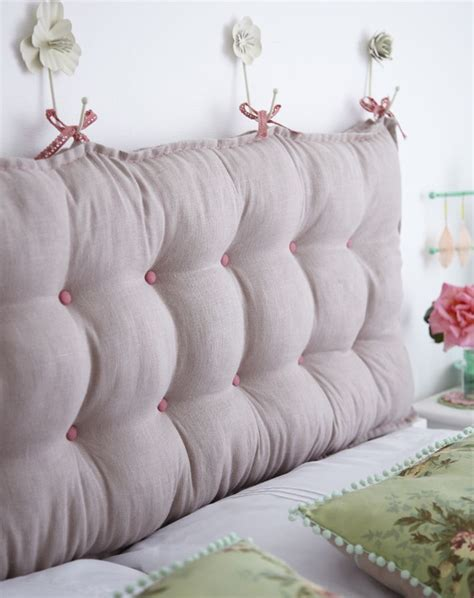how to make a cushion headboard 25 best ideas about linen headboard on pinterest