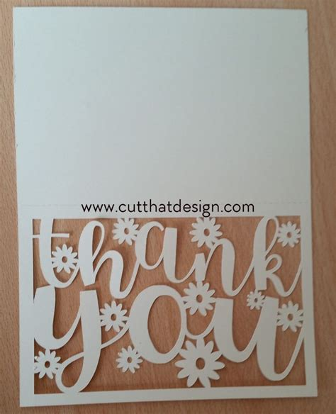 thank you card template cricut free svg files scanncut silhouette cameo cards