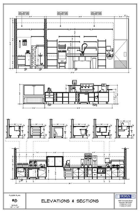 layout unit height design layout elevations sections