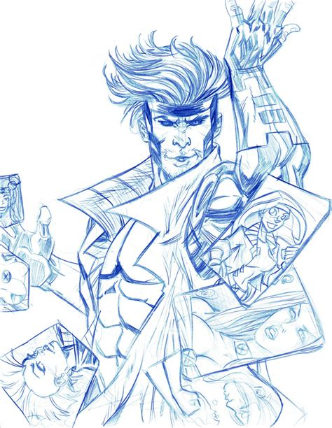 sketchbook x drawings gambit and jam sketch by thejeremydale on deviantart