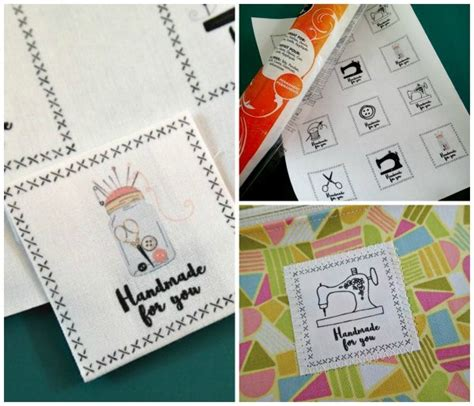 Fabric Tags For Handmade Items - free tutorial fabric labels for handmade gifts by deby