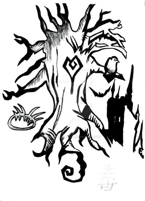 tim burton tree tattoo design  amberxdarko  deviantart