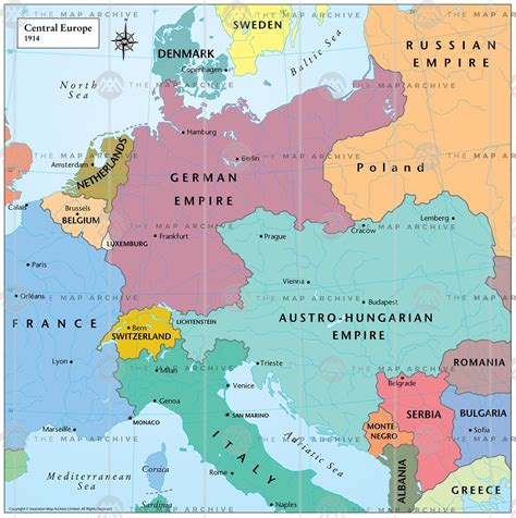 central europe map central europe 1914