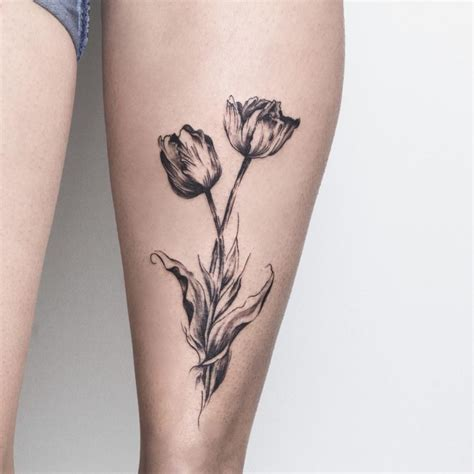 small tulip tattoos 21 tulip designs ideas design trends premium