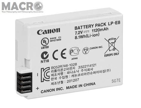 Canon Battery Lp E8 1120mah jual beli battery canon lp e8 7 2v 1120mah baru